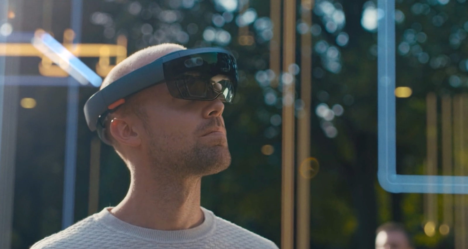 Virtual Reality Bril - BIM Master visualiseert het model van een bouwwerk